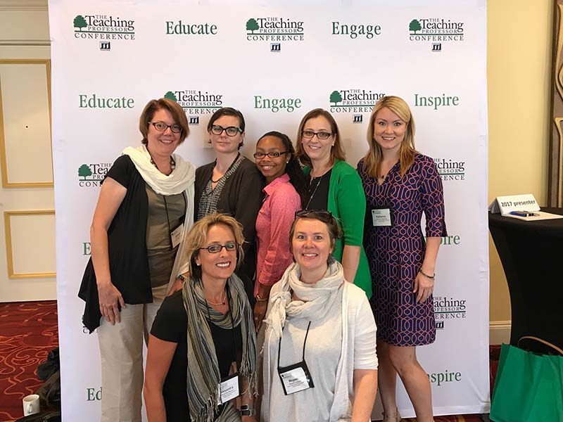 Group of CELT funded faculty attending the 2017 Teaching Professor Conference